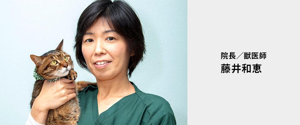 院長/獣医師 藤井和恵